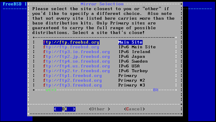 Устнаовка FreeBSD