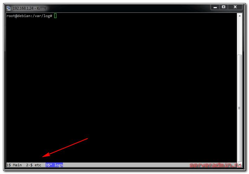 настройка screen в debian