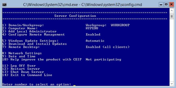 Hyper-V Server 2012 R2