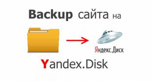 Backup сайта на яндекс диск