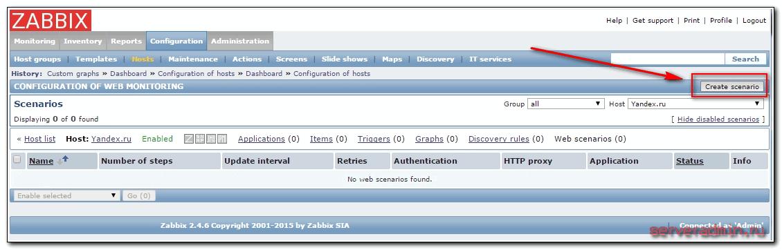 создание сценария проверки сайта