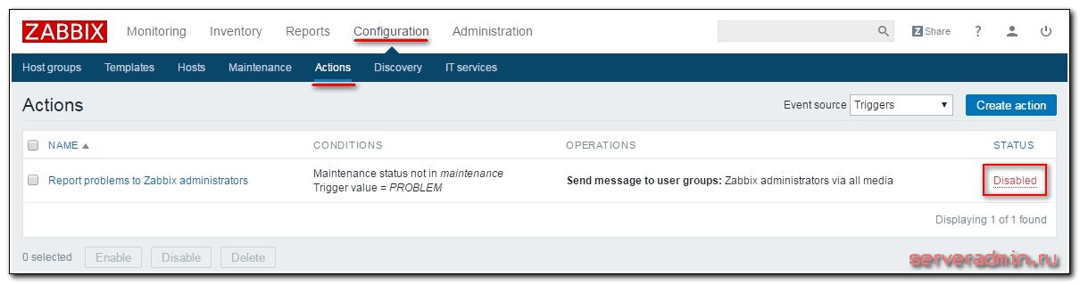 Активация рассылки уведомлений