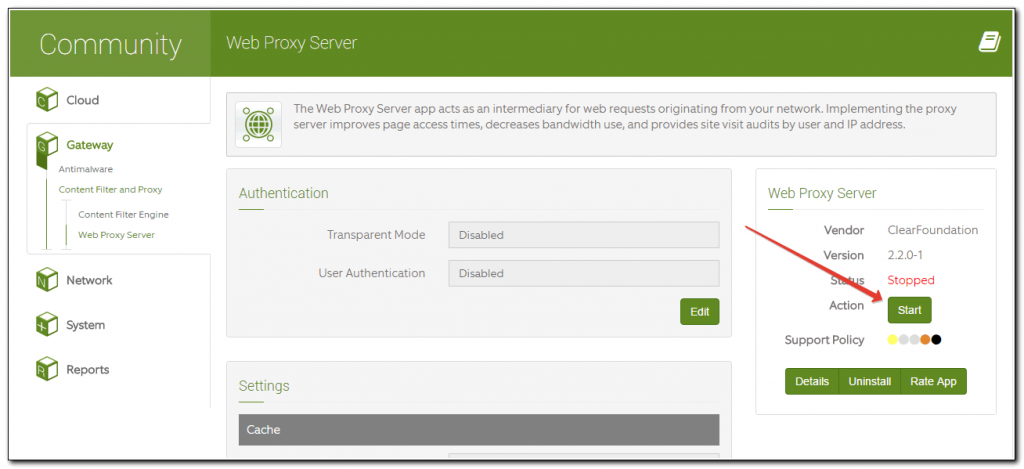Запуск Proxy Server