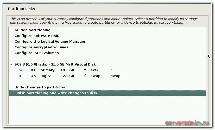Проверка схемы разметки диска