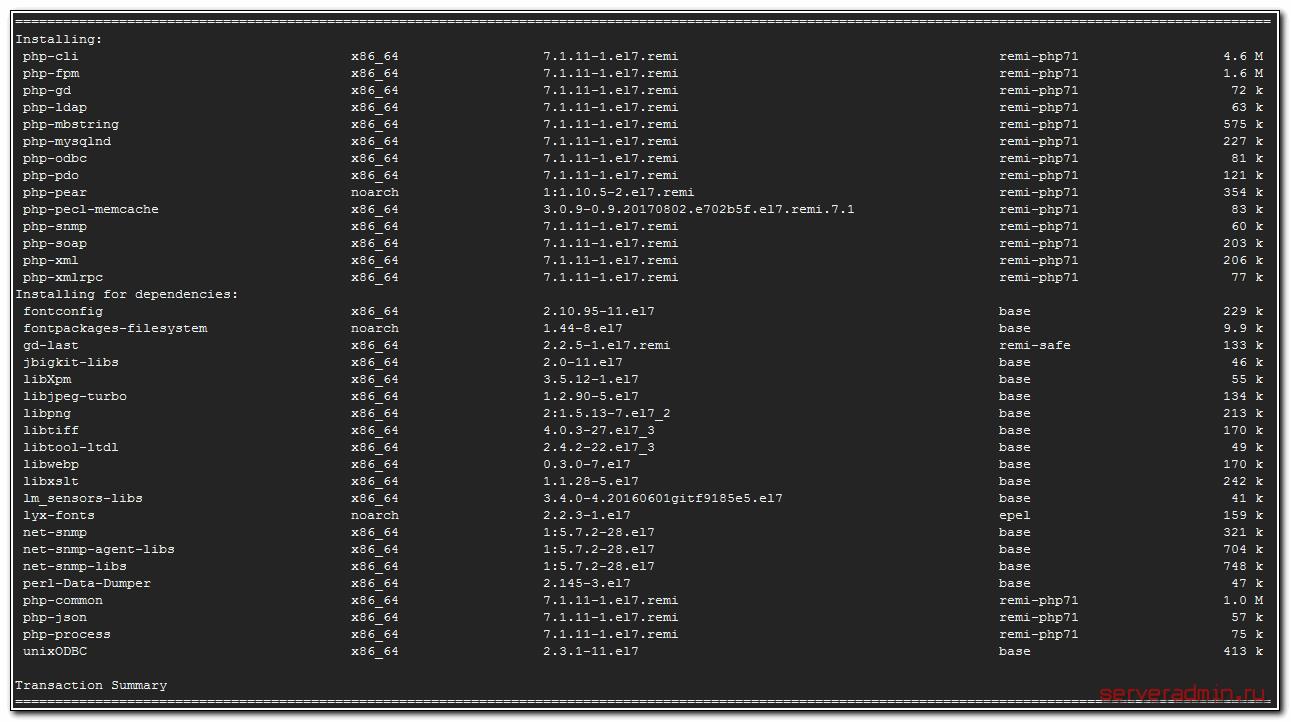 Установка php-fpm