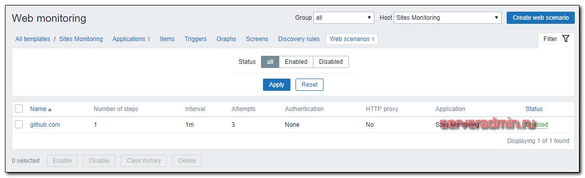 Готовый web сценарий