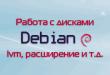 Работа с дисками в Debian