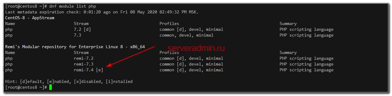 Список модулей php