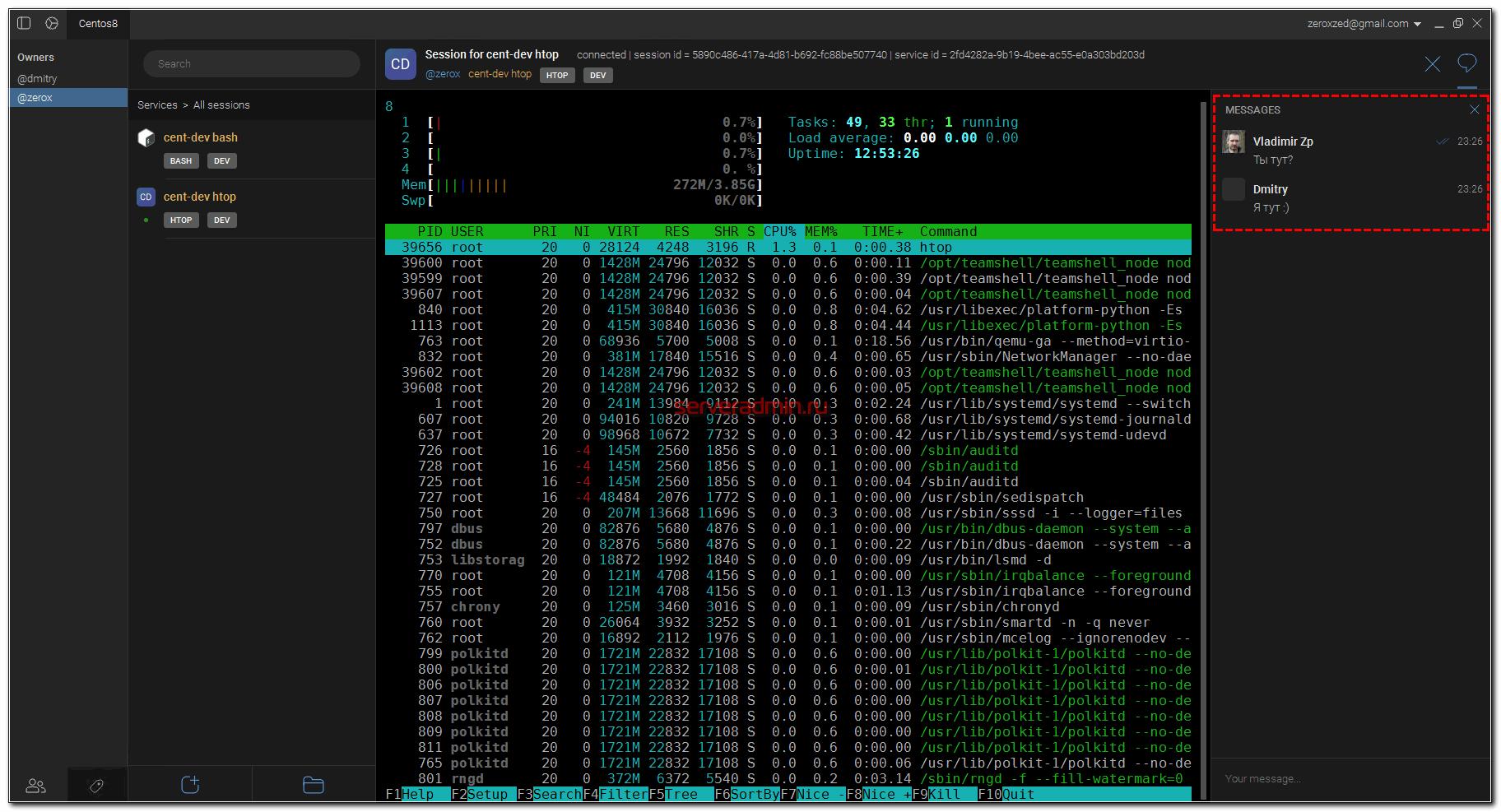 Совместный доступ по ssh