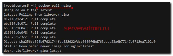 Загрузка образа nginx