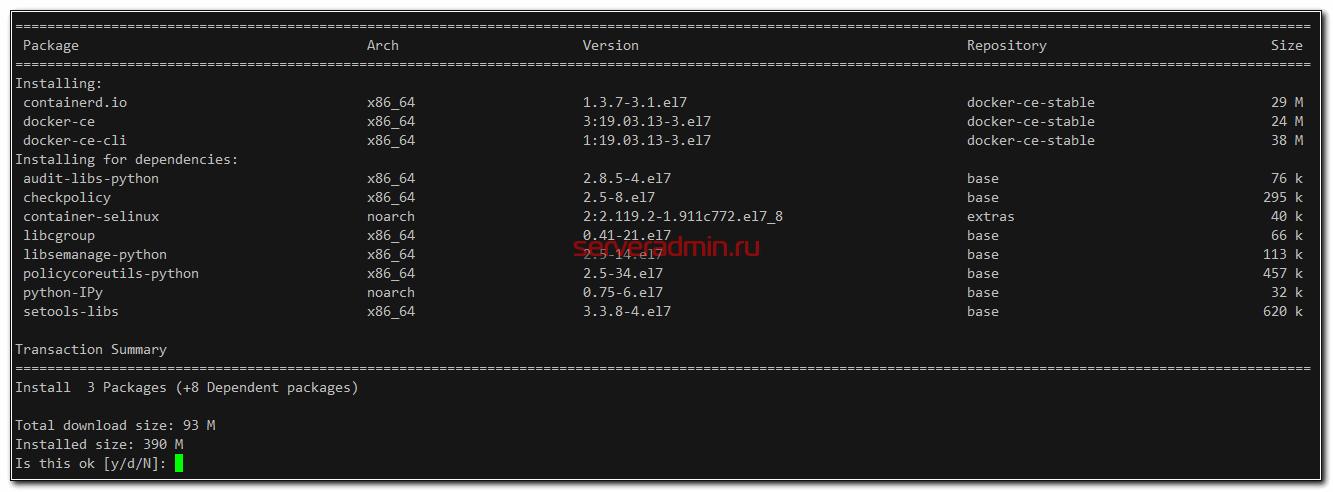 Установка Docker в Centos 7