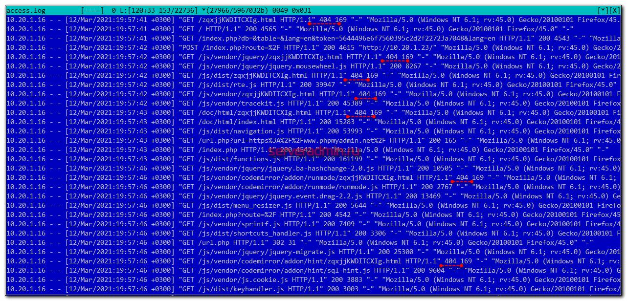 ban ip адреса из error.log