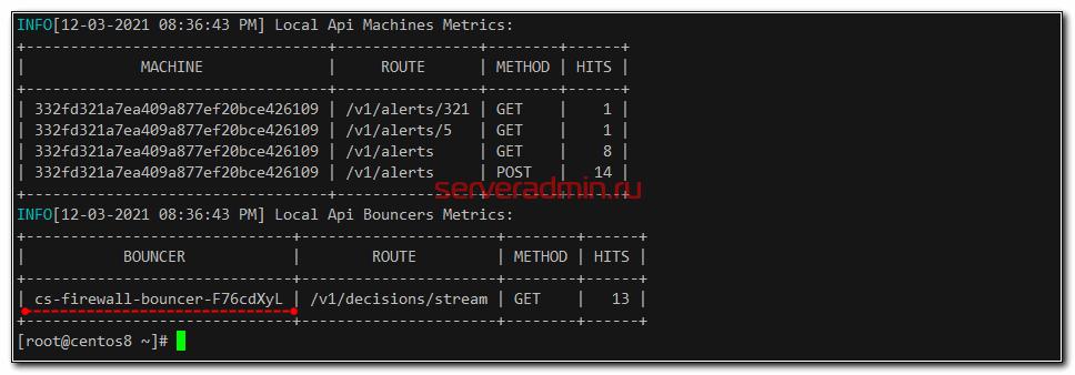 cscli metrics
