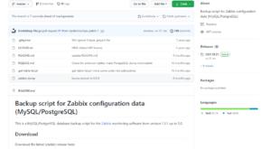 Бэкап базы данных Zabbix