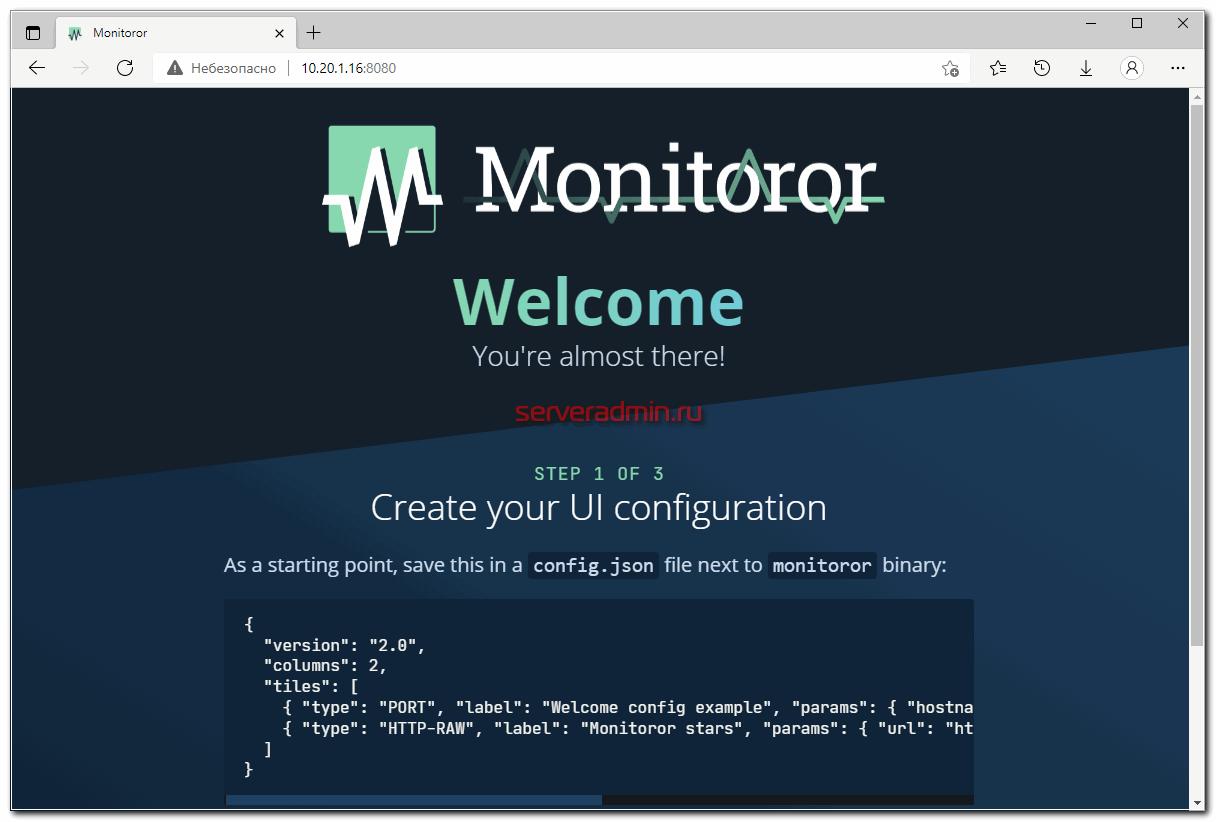 Monitoror Web UI